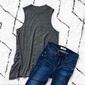 Mossimo Gray High-Neck Tank